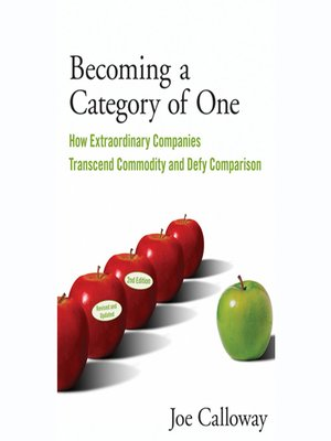 cover image of Becoming a Category of One