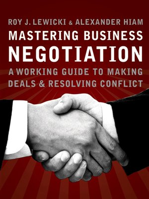 cover image of Mastering Business Negotiation