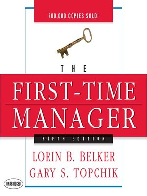 cover image of The First Time Manager