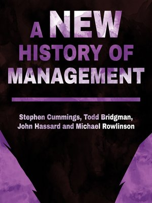 cover image of A New History of Management