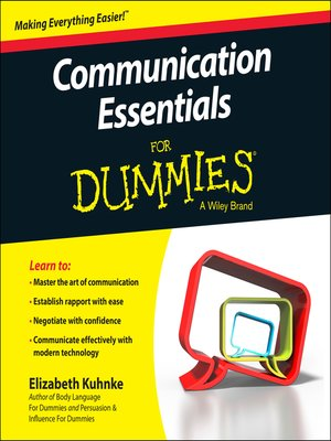 cover image of Communication Essentials For Dummies