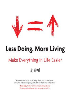 cover image of Less Doing, More Living