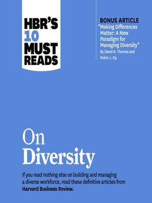 cover image of HBR's 10 Must Reads on Diversity