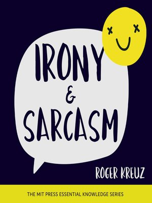 cover image of Irony and Sarcasm
