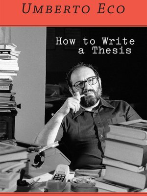 cover image of How to Write a Thesis