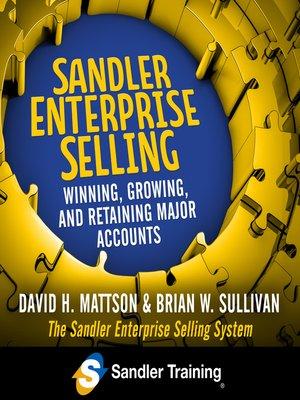 cover image of Sandler Enterprise Selling