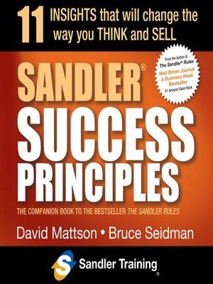 cover image of Sandler Success Principles