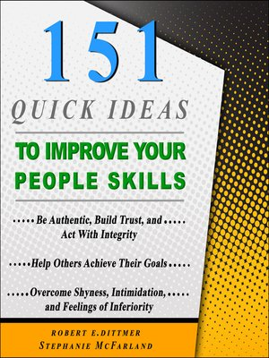 cover image of 151 Quick Ideas to Improve Your People Skills