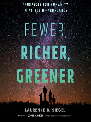 cover image of Fewer, Richer, Greener