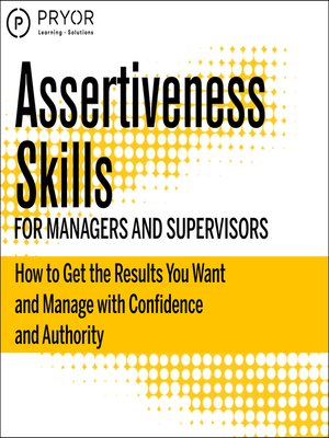 cover image of Assertiveness Skills for Managers and Supervisors