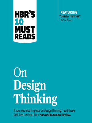 cover image of HBR's 10 Must Reads on Design Thinking