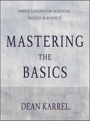 cover image of Mastering the Basics