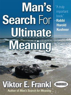cover image of Man's Search for Ultimate Meaning