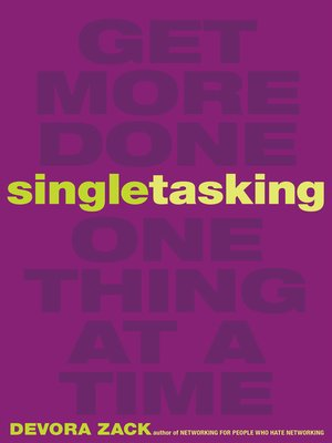 cover image of Singletasking