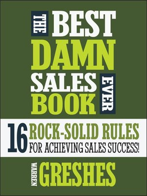 cover image of The Best Damn Sales Book Ever
