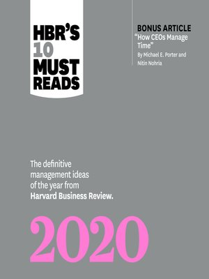 cover image of HBRs 10 Must Reads 2020