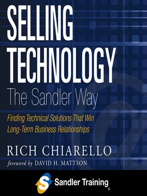 cover image of Selling Technology the Sandler Way
