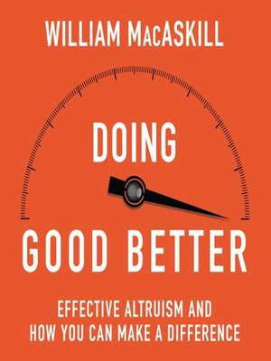cover image of Doing Good Better