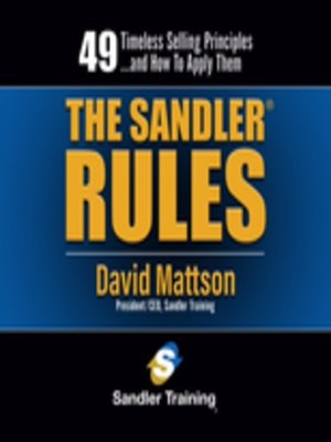 cover image of The Sandler Rules