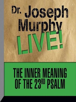 cover image of The Inner Meaning the 23rd Psalm