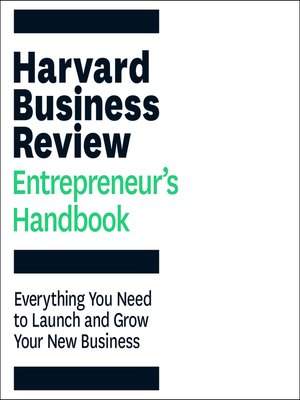 cover image of The Harvard Business Review Entrepreneur's Handbook