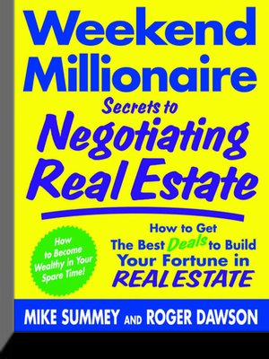 cover image of Weekend Millionaire Secrets to Negotiating Real Estate