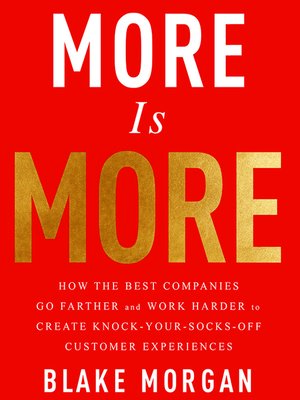 cover image of More is More
