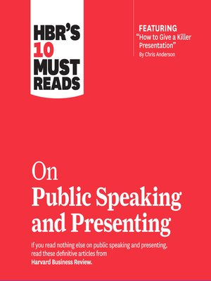 cover image of HBR's 10 Must Reads on Public Speaking and Presenting