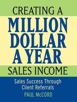 cover image of Creating a Million Dollar a Year Sales Income
