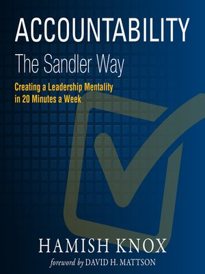 cover image of Accountability the Sandler Way