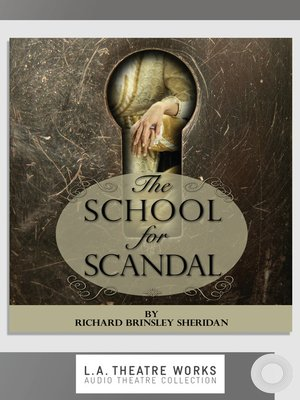 cover image of The School for Scandal