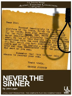 cover image of Never the Sinner