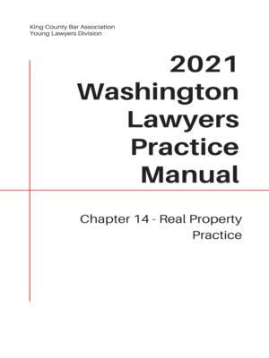 cover image of Washington Lawyers Practice Manual Chapter 14