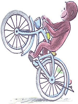 cover image of Curious George Rides A Bike