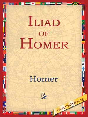 cover image of Iliad of Homer