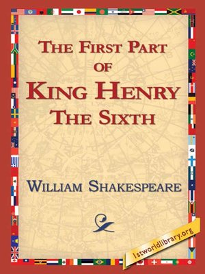 cover image of The First Part of King Henry the Sixth