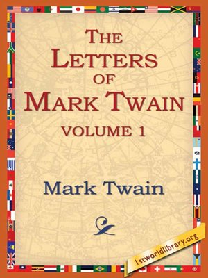 cover image of The Letters of Mark Twain, Volume1