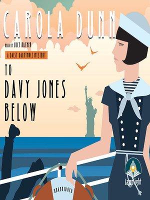 cover image of To Davy Jones Below
