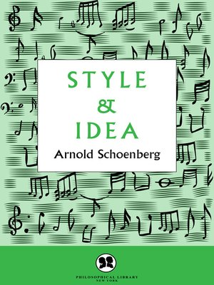 cover image of Style and Idea