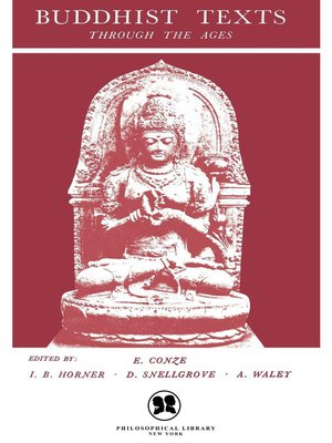 cover image of Buddhist Texts Through the Ages