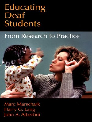 cover image of Educating Deaf Students