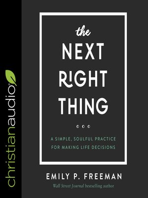 cover image of The Next Right Thing