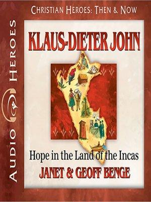 cover image of Klaus-Dieter John