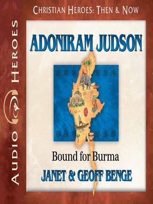 cover image of Adoniram Judson