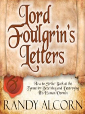 cover image of Lord Foulgrin's Letters