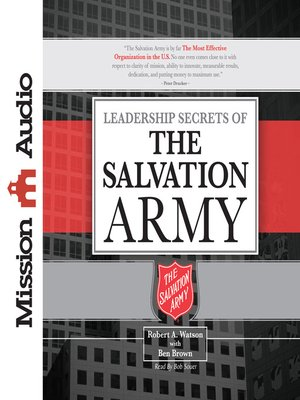 cover image of Leadership Secrets of the Salvation Army