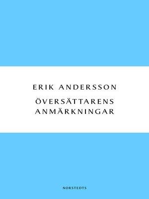 cover image of Översättarens anmärkningar