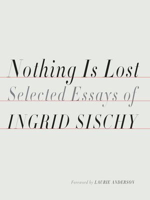 cover image of Nothing Is Lost