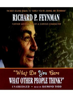 cover image of What Do You Care What Other People Think?