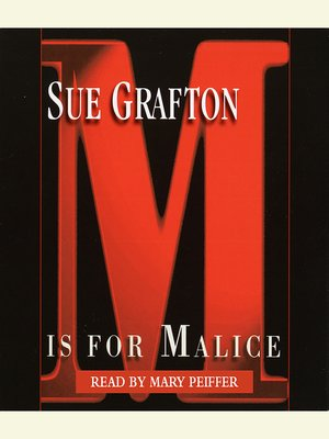 "cover image of ""M"" is for Malice"